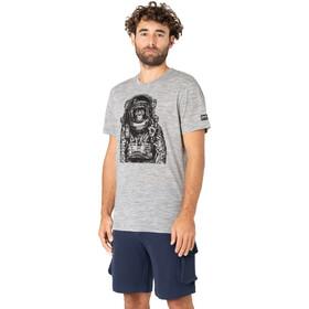 super.natural Space Monkey Tee Men, ash melange/jet black